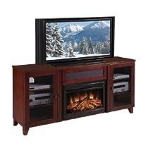 "Hot Sale 70"" Shaker-Style TV Media Console (Dark Cherry) (33.90H x 70.00W x 17.70D)"