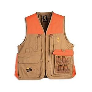 Browning Pheasants Forever Vest, Khaki/Blaze, X-Large-Tall