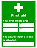 Sign 'Your First Aiders Are & Nearest First Aid Box' Vinyl (5GM004736)