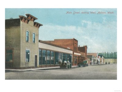 Auburn, Washington - Western View from Main Street