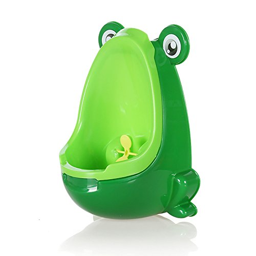Cartoon Green Frog Baby Toilet Training Potties Urinal for Boys with Funny Aiming Target