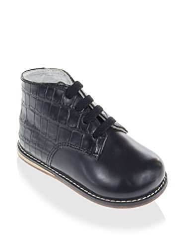 josmo kid s smooth croco walking shoe black 4 m us