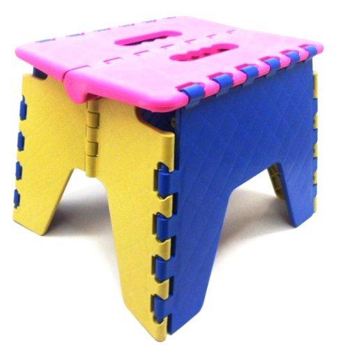"""EZ DLUX Foldz Sgabello piccolo, di alta qualità, è resistente, h 21 x 26 x 21 cm (22"""") x 22 x 10,83), i colori possono variare, misura: piccola, colore: multicolore, modello:, Tools & Hardware store"""