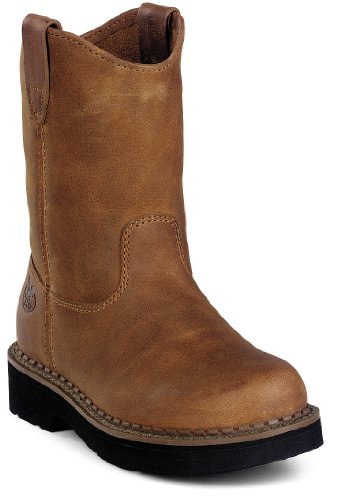 Georgia GB202 Youth's Wellington Wild West Boot Brown Youth 4 M US