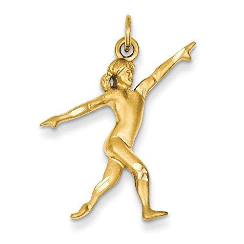 14k Gold Gymnast Charm