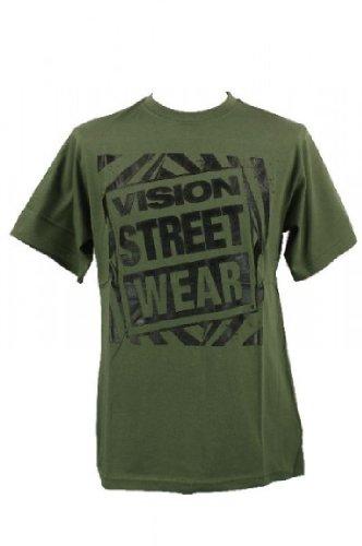 Vision Street Wear Vision Street Wear Gator Logo T-Shirt Tee Skateboarding Skate Men Kult gr?n in Gr. XL - T-Shirts