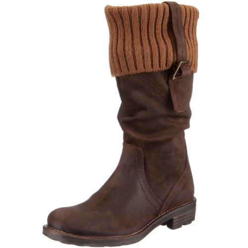 Maruti Women's Margo Brown Mid Calf Boot Leather Suede 66.30124.1057 6.5 UK