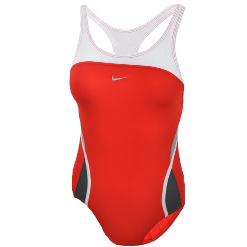Nike Girls Swimming Costume - Red - Chest Size 30