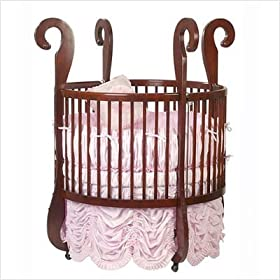 Little Miss Liberty Sleigh Wood Round Crib