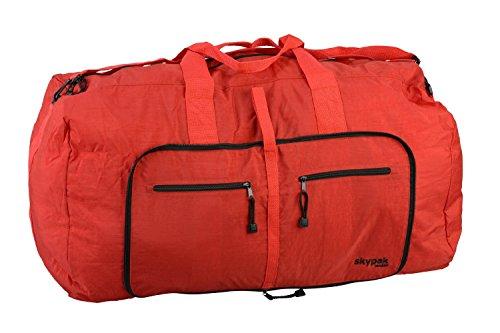 Skypak Skyflite London Borsone da viaggio, pieghevole, 90 L rosso Grande