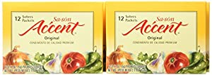 Sa-son Accent Seasoning, Original Flavor,12-Count Packets (Pack of 24)