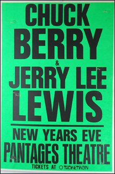 Chuck Berry Jerry Lee Lewis 1986 Boxing Style Poster