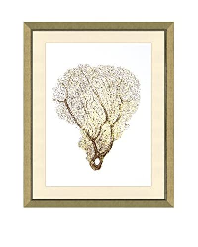 Art Source Real Gold Leaf Sea Fan Print I, Multi, 26 x 22