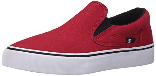 DC Shoes Trase Slip-On Bambini US 5.5 Rosso Scarpe Skate UK 3 EU 36