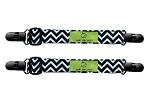 Baby TripClips -Black and White Chevron- 2 Pack