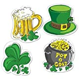 Pkgd St Patrick s Day Cutouts Party Accessory (1 count) (4 Pkg)