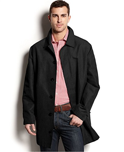 Michael Kors Coat, Fremont Breathable Lined Black New Men'S Raincoat (Medium)