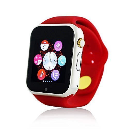 Yuntab Smartwatch-K9 Bluetooth 3.0 di Smart Orologio Wrap Watch Phone per IOS di Apple Iphone 4 / 4s / 5 / 5c / 5s / 6/6 Plus Android Samsung S2 / S3 / S4 / S5 / nota 2/3 nota HTC (Rosso)