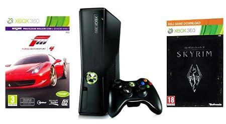 Xbox 360 - Console 250 GB con Forza Motorsport 4, Skyrim e Abbonamento Xbox Live Gold 1 Mese [Bundle]