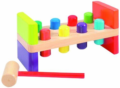 Eichhorn 100001868 - Banco de madera con martillo para jugar [Importado de Alemania] (Simba Dickie)