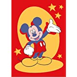 Luxury Childrens Character Mickey Red Disney Rug/Mat