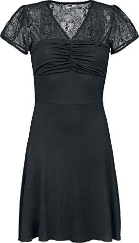 Black Premium by EMP Skull Lace Dress Abito nero XS