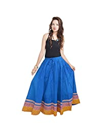 Sunshine Ecommerce Specially Designed Full Length Blue Skirt In Bottom
