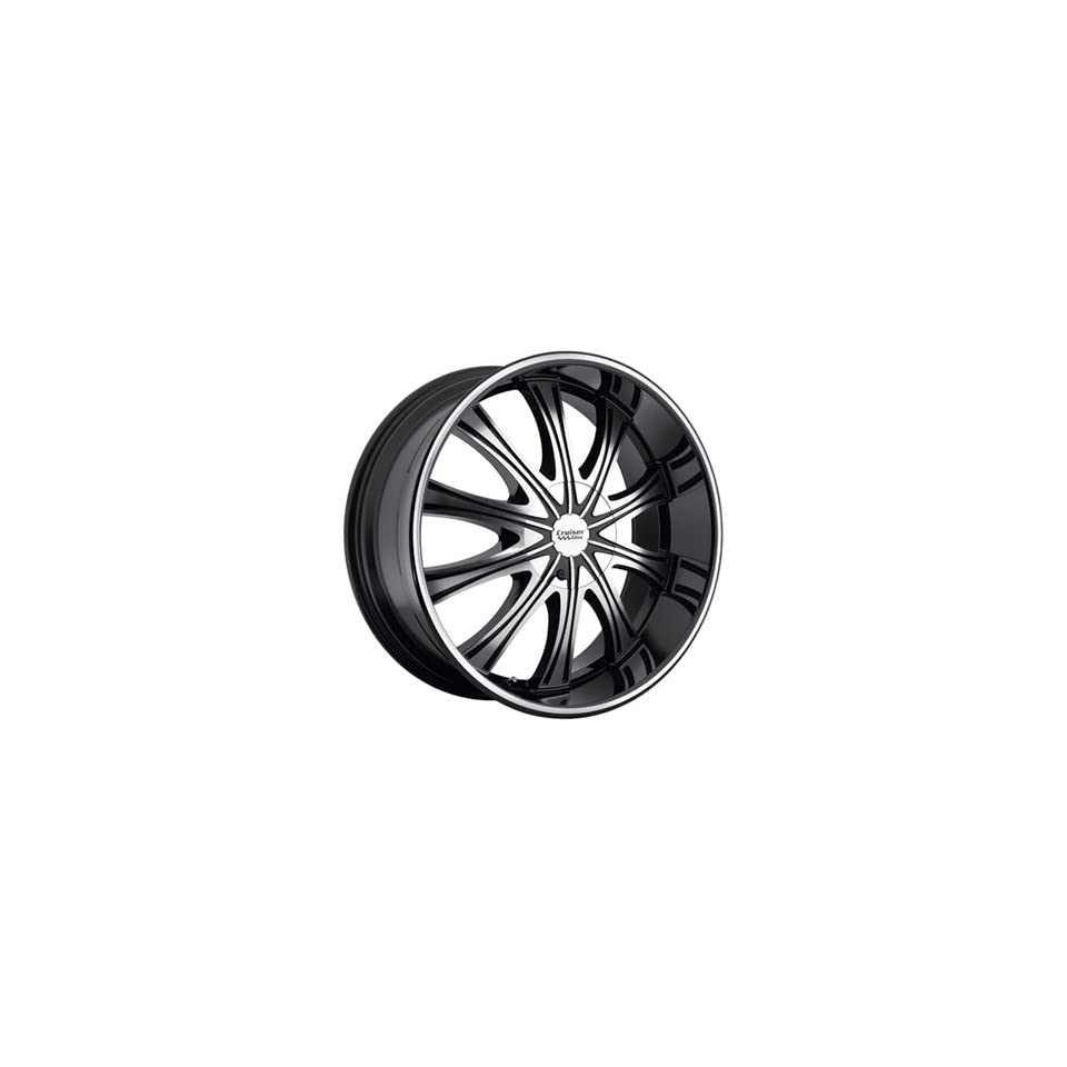 Cruiser Alloy Slice 20x9 Black Wheel / Rim 6x135 & 6x5.5 with a 25mm Offset and a 108.00 Hub Bore. Partnumber 911MB 2906825