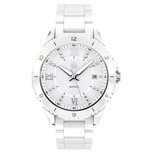I Love You Always Full Ceramic Luxury Watch with Sapphire Glass with Date Ceramic Band and Stainless Steal Case...
