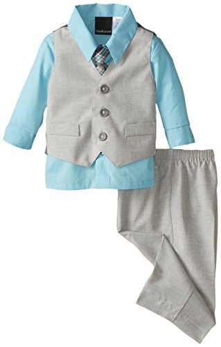 Van Heusen Baby-Boys Newborn Tick Weave Vest Set absorba baby boys newborn g velour tutu legging set