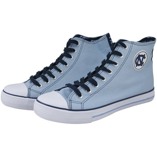 Cheap North Carolina Tar Heels (UNC) Carolina Blue Hi-Top Canvas Shoes (B00416NKYW)