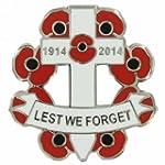 WW1 1914 Centenary Cross Pin Badge
