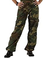 Rothco Women's Vintage Paratrooper Fatigues, Woodland Camo