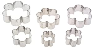 Ateco Graduated Daisy Cookie Cutters, Set of 6 by HIC Harold Import Co.