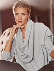 Rosie for Autograph Luxurious Pure Cashmere Jumper with Detachable Snood