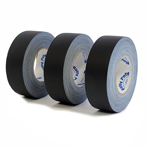 3 Rolls Premium Professional Grade Gaffer Tape - 2 Inch X 55 Yards - Black Color - 3 Rolls Per Case