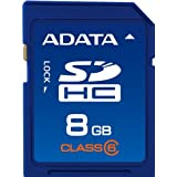 ADATA 8GB Class 6 SDHC Flash Memory Card ASDH8GCL6-R ~ A-Data USA