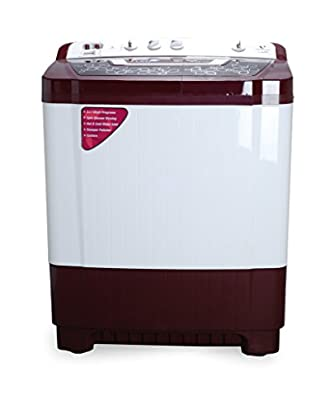 Videocon VS80P14-WMK Virat Prime Semi-automatic Top-loading Washing Machine (8 Kg, Dark Maroon)