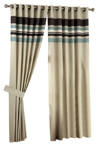 Curtina Harvard Duckegg Eyelet Lined Curtain 90x108