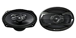 """Pioneer TS-A6975R 6"""" x 9""""  3-Way TS Series Coaxial Car Speakers"""