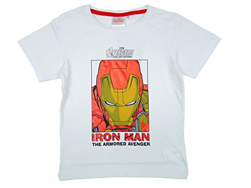 Boys Marvel Avengers Age Of Ultron Iron Man Hulk Cotton T-shirt Top Sizes From 4 To 10 Picture