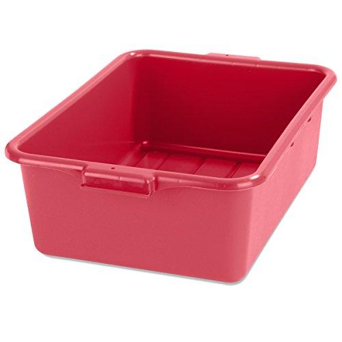 """Carlisle N4401105 Comfort Curve Bus Box/Tote Box, 7"""" Deep, Red (Pack of 12)"""