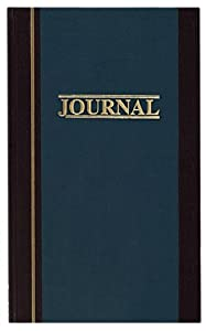 Wilson Jones S300 Line Hardbound Shaw Account Book, Two Column Journal, 33 Lines/Page, Blue with Brown Trim, WS300-3JA