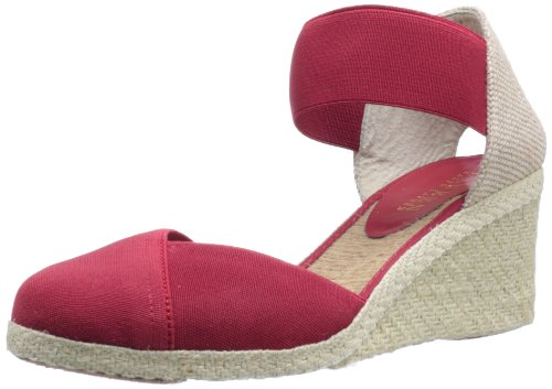 Lauren Ralph Lauren Women's Charla Wedge Sandal,Red,8 B US