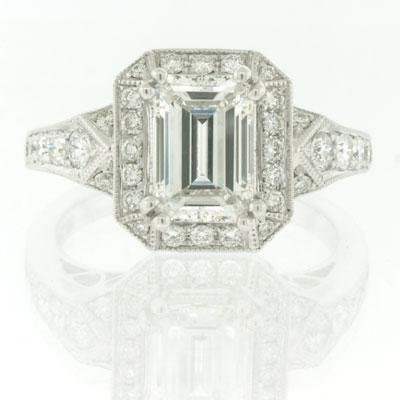 2.45ct Emerald Cut Diamond Engagement Anniversary