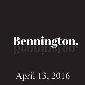 Bennington, April 13, 2016 Radio/TV Program