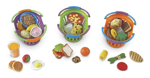 Learning Resources New Sprouts Breakfast/Lunch And Dinner Baskets - Pack Of 3