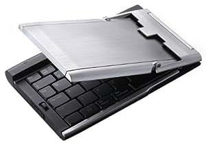 Perixx PERIBOARD-806, Clavier pliable Bluetooth - en aluminum - 148x99x21mm - Piles de marque - Anti pieds en caoutchouc antiderapant - AZERTY