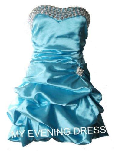 1d9dca6eb47 Kurzes Damen Kleid trägerlose Cocktailkleider Minikleider Abendkleider  Ballkleider Abschlussball Kleider Frauen Hellblau