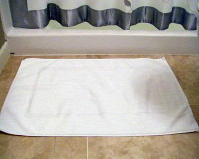 24pc Lot of New White Cotton Hotel Bath Mats 7#dz 20x30 Hotel Supplies Wholesale (Wholesale Hotel Products compare prices)